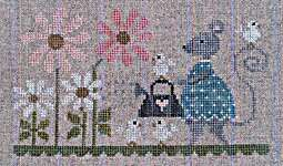 Click for more details of Souris Marguerites (cross stitch) by Tralala