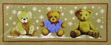 Click for more details of Sous Les Flocons   (Snowflakes Falling) (cross stitch) by Princesse