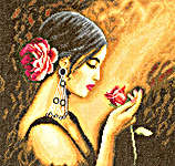Click for more details of Spanish Beauty (cross-stitch kit) by Lanarte