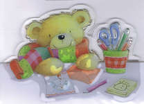 Click for more details of Special Delivery Clear Stamps - Stamping Teddy (stamps) by Helz Cuppleditch
