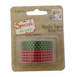 Click for more details of Special Delivery Washi Tape - Red Gingham/Green Polka Dot (adhesives) by Helz Cuppleditch