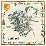 Click for more details of Special Interest Maps - Scotland (cross stitch) by Sue Ryder