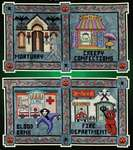 Click for more details of Spook Town Square 4 (cross stitch) by Glendon Place