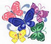Click for more details of Spring Butterflies (cross stitch) by Imaginating