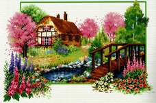 Click for more details of Spring Cottage (no-count cross stitch) by Needleart World