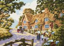 Click for more details of Spring Cottage (tapestry) by Grafitec