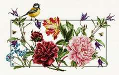 Click for more details of Spring Flowers and Bird (cross stitch) by Luca - S