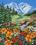 Click for more details of Spring in the Mountain (tapestry) by Grafitec