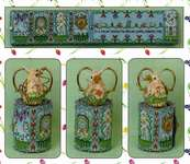 Click for more details of Spring Mouse Scissor Roll - Pattern and Embellishment Pack (cross stitch) by Just Nan Inc