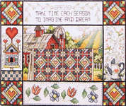 Click for more details of Spring Quilt (cross stitch) by Stoney Creek