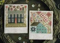 Click for more details of Spring SaltBoxes (cross stitch) by Plum Street Samplers