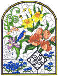 Click for more details of Spring Stained Glass Window (cross stitch) by Imaginating