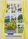 Click for more details of Spring Through The Window (long-stitch kit) by Anchor