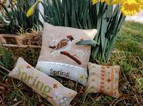 Click for more details of Spring Trio (cross stitch) by Serenita di Campagna