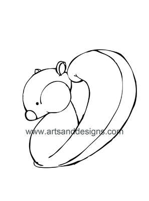 Click for more details of Squirrel Card Making Digital Stamp in Black (digital downloads) by Julie Lynes