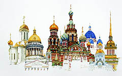Click for more details of St Petersburg (cross stitch) by Thea Gouverneur