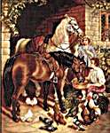 Click for more details of Stableyard Scene (tapestry kit) by Rico Design