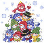 Click for more details of Stacking Snowmen (cross stitch) by Imaginating