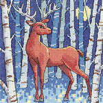 Click for more details of Stag (cross stitch) by Karen Carter