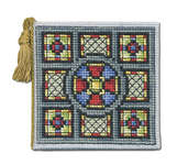 Click for more details of Stained Glass Window Needlecase (cross stitch) by Textile Heritage