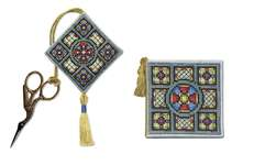 Click for more details of Stained Glass Window Stitcher's Accessories (cross stitch) by Textile Heritage