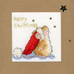 Click for more details of Star Gazing Christmas Card (cross stitch) by Bothy Threads