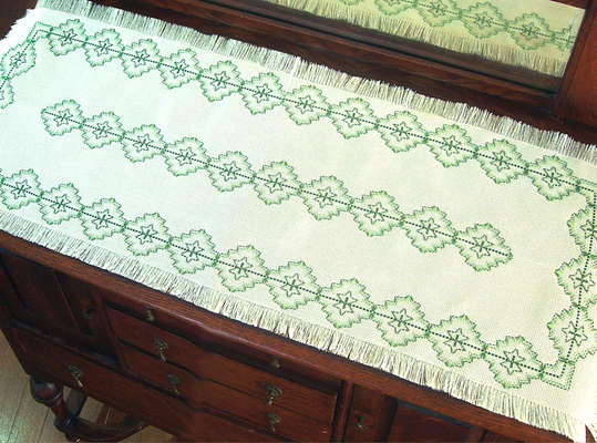 Click for more details of Starflower Runner (swedish weaving) by Swedish Weave Designs