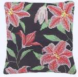Click for more details of Stargazer Lily Herb Pillow (tapestry) by Cleopatra's Needle