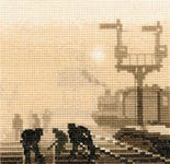 Click for more details of Steam Team (cross stitch) by Phil Smith