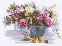 Click for more details of Still Life of Flowers (cross stitch) by Lanarte
