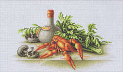 Click for more details of Still Life with Crayfish (cross stitch) by Luca - S