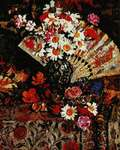 Click for more details of Still Life with Fan (cross stitch) by Kustom Krafts