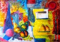 Click for more details of Still LifeStill Life and Lanscape with Geometric Cubism (oil on canvas) by gianbencio