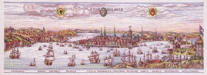 Click for more details of Stockholm (cross stitch) by Eva Rosenstand
