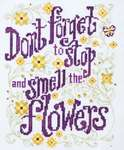 Click for more details of Stop and Smell the Flowers (cross stitch) by Stoney Creek