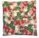 Click for more details of Strawberries Herb Pillow (tapestry) by Cleopatra's Needle