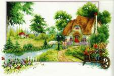 Click for more details of Summer Cottage (no-count cross stitch) by Needleart World