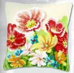Click for more details of Summer Flowers Cushion Front (tapestry) by Vervaco