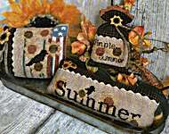Click for more details of Summer Sunshine Pillows Set (cross stitch) by Mani di Donna