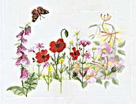 Click for more details of Summer Wild Flowers (cross-stitch kit) by Rose Swalwell