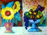 Click for more details of Sun flowers and Still Life (oil on canvas) by gianbencio