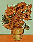 Click for more details of Sunflowers (After Van Gogh) (cross stitch) by Luca - S