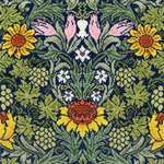 Click for more details of Sunflowers in the Style of William Morris (cross stitch) by Bothy Threads