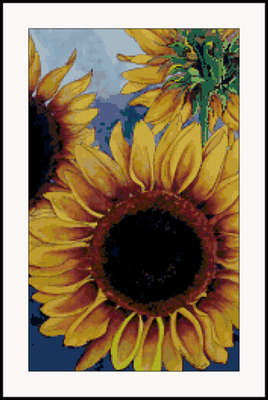 Click for more details of Sunny Sunflower Watercolor cross stitch pattern (cross-stitch pattern) by Mary Gaines