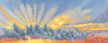 Click for more details of Sunrise Sky (cross stitch) by Thea Gouverneur