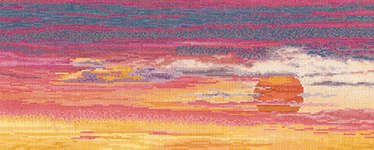 Click for more details of Sunset Sky (cross stitch) by Thea Gouverneur