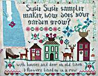 Click for more details of Susie Susie Samplermaker (cross stitch) by Lindy Stitches