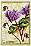 Click for more details of Sweetbriar and Cyclamen (cross stitch) by Stoney Creek