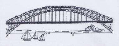 Click for more details of Sydney Harbour Bridge (cross stitch) by Permin of Copenhagen