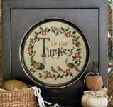 Click for more details of T is for Turkey (cross stitch) by Heartstring Samplery